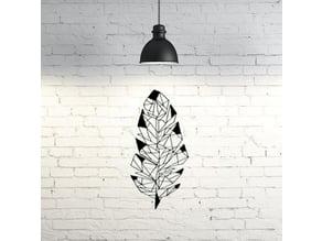 Leaf  wall sculpture 2D