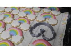 Cortador de galletas de arcoiris/ rainbow cookie cutter