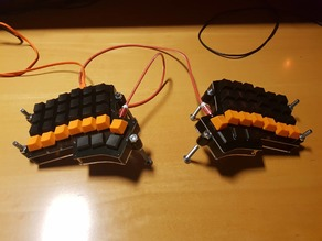 Keeb.io Iris custom standoffs (Laser)