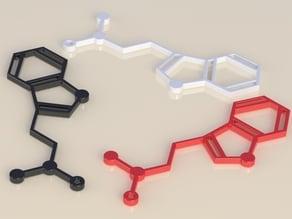 DMT Molecule Earings/Neclace