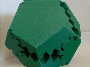 Screwless Dodecahedron Gears