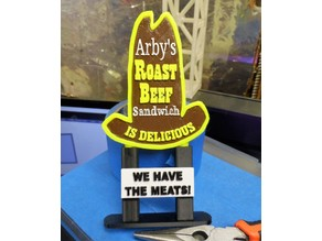 Retro Arby's Sign