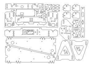Anet A8 Frame Acrylic MDF Laser/CNC cut