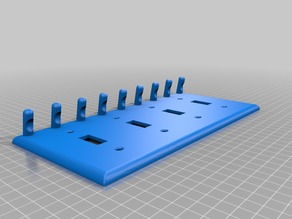 4-Switch Plate with Key Hooks