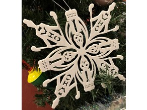 Doctor Who & Silence Snowflake ornament
