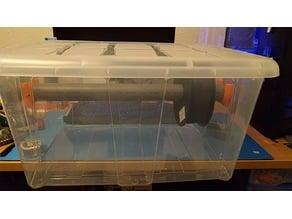 Soporte para tubo PVC filamento en caja