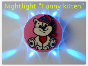 "Nightlight ""Funny kitten"""