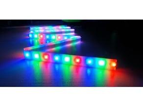 LED strip holder rail cover