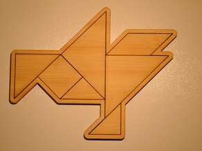 Tangram Goose puzzle