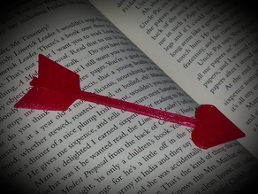 Heart Tipped Arrow Bookmark
