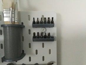 IKEA Skadis drill bit holder