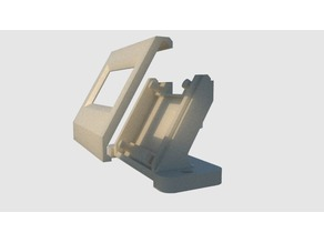 """0.96"""" 128x64 OLED display mounting bracket with cover"""