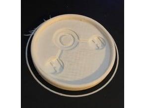 H2O Molecule Coaster