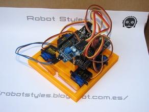 Robot detects moisture