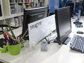 desk partition panel holder