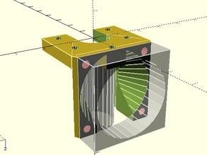 Mini Kossel JHead 30mm PEEK fan mount