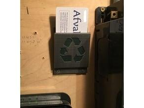 Garbage card Holder
