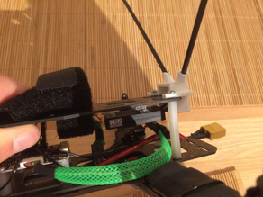 Dual Antenne Holder - Jeti RSAT2 - FPV-Racing Quad