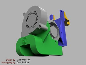 """Titan Aero Mount + """"The Snail"""" Fan Duct + Wire Relief for Geeetech A30 and A10"""