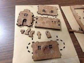 A laser cut gingerbread house