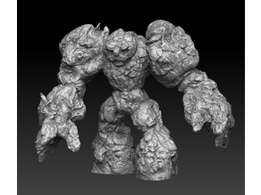 stone rock elemental golem