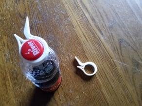 Screw cap bottle opener