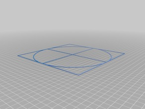 My Customized Bed Center Calibration Tutorial (using parametric crosshairs with square)