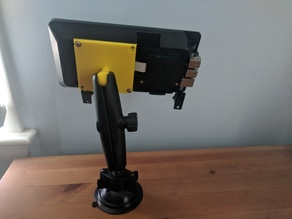 VESA 75mm to RAM ball mount for SmartiPiTouch case