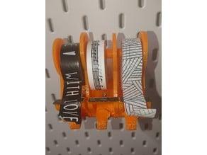 3-fach Tape-Abroller für IKEA Skadis Lochwand (Tesa, Iso-Band, Washi-Tape uvm)