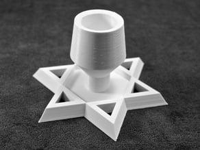 Customizable Shabbat Candle Holder