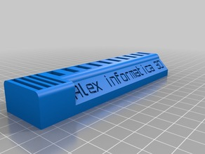 USB stick and SD card holder 3D