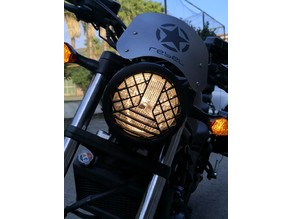 honda rebel headlight cover .