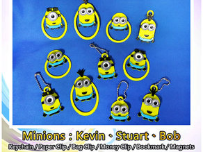 Minions Keychain / Paper Clip / Bag Clip / Money Clip / Bookmark / Magnets