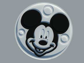 Coasters Mickey Mouse. Dual printing