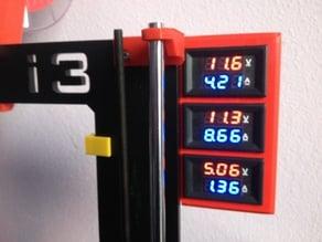 Volt + ampere meter bracket