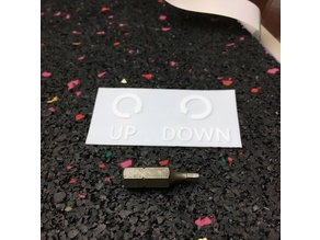 Bed Level Reminder Plate | Turn Wing Nut > UP or DOWN