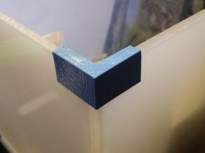 Simple Metacrilato corner guides - Gias esquineras caja metacrilato.