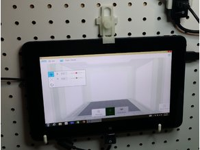 Tablet Pegboard bracket.