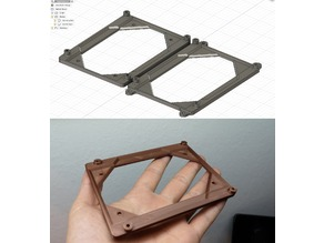 Minimalistic / Simple Duet Wifi mounting bracket / bumper / brace