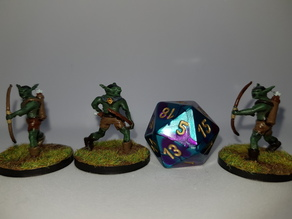 Goblin Archers for 28mm tabletop gaming