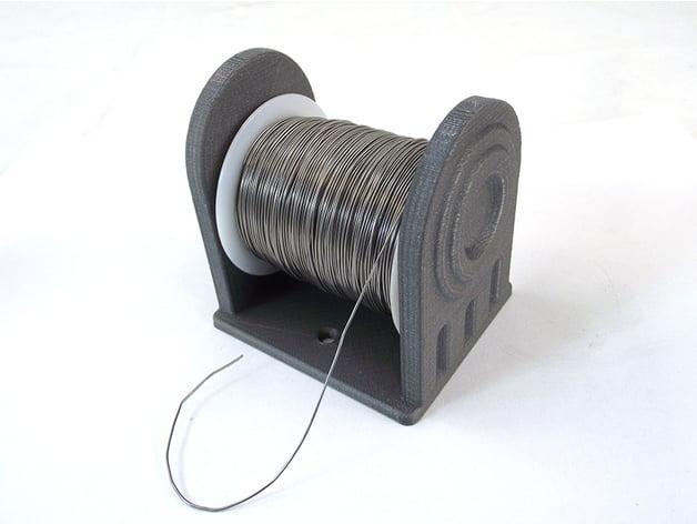 Solder Wire Spool Holder by TikiLuke - Thingiverse