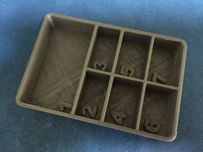 7 Section Part Tray