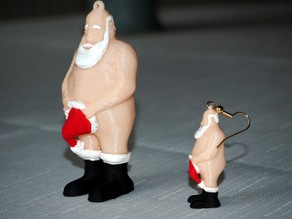 Cheeky Santa Earrings, Tree & Cake Decoration