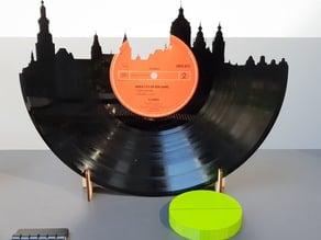 Vinyl Record Amsterdam Skyline