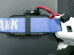 Fat Shark FPV Goggle Battery Holster + Cable Clip