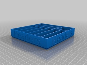 Header tray and bins - Remix of stackable trays