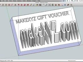 MakeXYZ 3D printing Gift Voucher