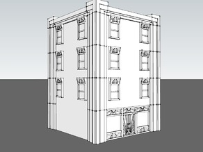 28mm Art Deco building pieces