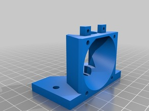 Fan duct and Mini Differential IR sensor mount for E3Dv6 hot end with commonly used mounting plate