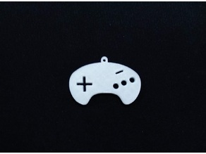 Sega Mega Drive Genesis Controller keychain model